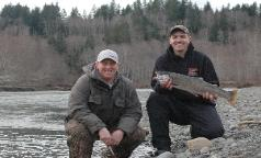 Another First Steelhead! Way to go Frank!